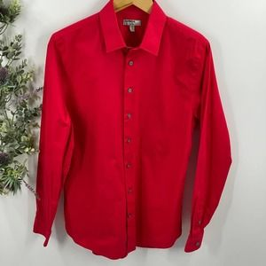 Express   1MX Fitted, Red Dress Shirt, M